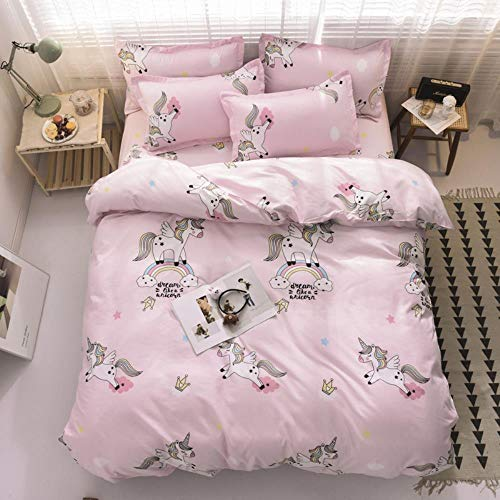 empty Duvet Quilt Cover And 2 Pillowcase Bed Set, Polyester-Cotton, Double,Easy Care And Super Soft Cotton Design,Prevent allergy,A3,(140x200) cm 2x(50x75) cm