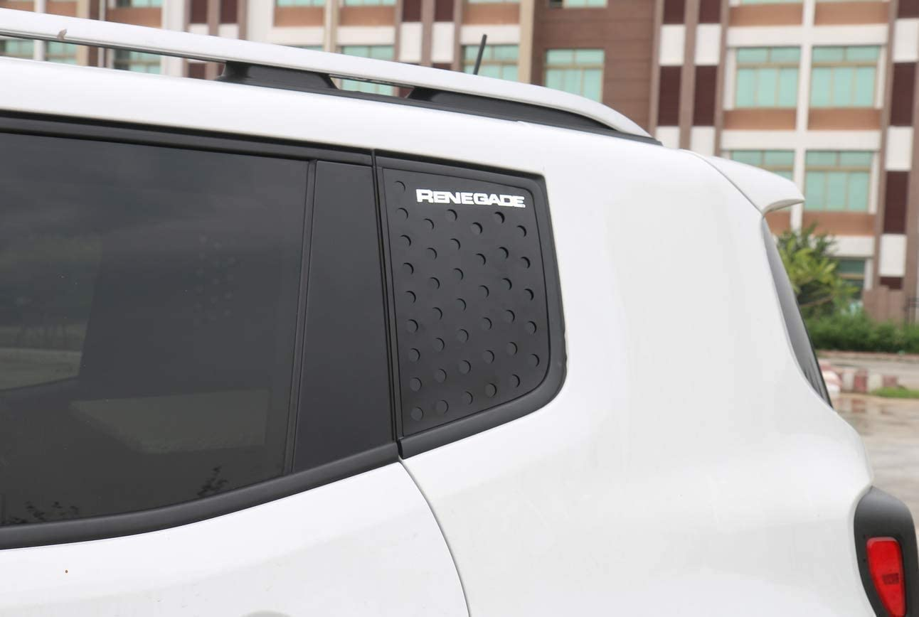 Front Front and Rear Window Trim for Jeep Renegade 2015-2021 Jeep Renegade Blue Aluminum Alloy Window Decorative Cover