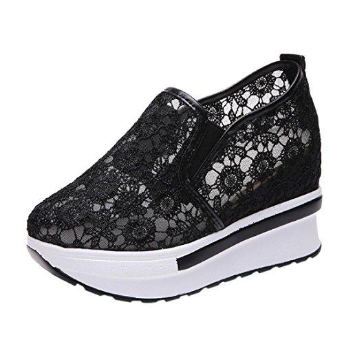 Zapatos para Mujer Otoño 2018 Zapatillas de Dama de Plataforma PAOLIAN Casual Cómodo Calzado de Señora con Encaje Moda Breathable Zapatillas de Vestir