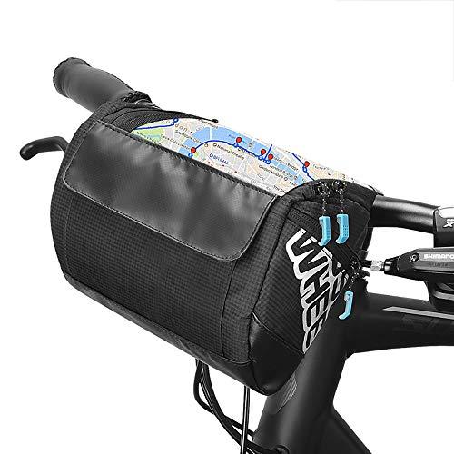 VERTAST Nuovo Design da Bici Manubrio Borsa Grande Cestino per MTB City CTB pendolare,Nero