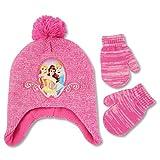 Disney Girls Frozen Elsa and Princess Winter Hat and Mitten Set (Toddler)
