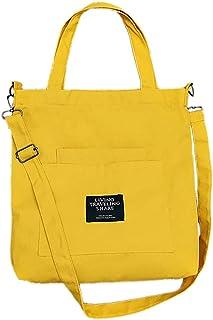 Fanspack Lady Shoulder Bag Canvas Handle Bag Big Capacity Tote Bag Messenger Bag Hand Bag