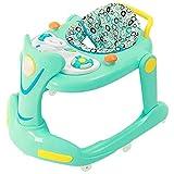 MYRCLMY Baby Walker, 6-7-12-18 Monate Kleinkinder Kinderwagen Musik von Hand eindrücken können Klapp Lernauto sitzen,Grün