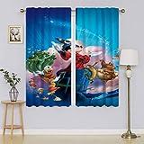 Mickey-Mouse - Cortina para ventana de oscurecimiento de habitación, cortina de ahorro energético para sala de estar, 42 x 63 pulgadas