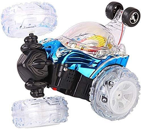 01:24 Mini coche teledirigido, coche del truco de rotación de 360 grados a 90 grados Permanente de conducción, con luces LED, regalos de la música ligera de vehículos eléctricos Stunt temprana de ju