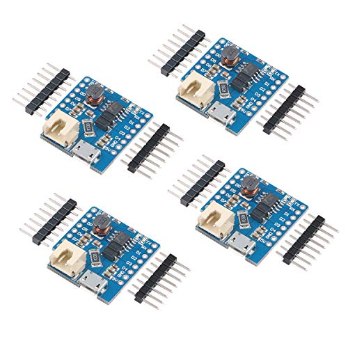 Makerfocus 2pcs D1 MINI Single Lithium Battery Charging Board 1A D1 Lithium Boost Shield for D1 MINI