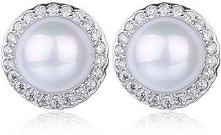 Collana con orecchini di perle di vendita diretta + set di orecchini con set di moda Versione coreana di gioielli in zirco...