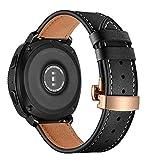 22 mm for Huawei Reloj GT2e GT2 46mm de Piel de la Mariposa Hebilla de Correa de Hebilla de Oro Rosa Ou Ka Rui KE Ji (Color : Apricot)
