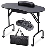 Yaheetech 37-inch Portable & Foldable 1-Drawer Manicure Table Nail Technician...