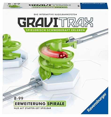 Ravensburger GraviTrax Erweiterung Spirale - Ideales Zubehör für spektakuläre Kugelbahnen, Konstruktionsspielzeug für Kinder ab 8 Jahren