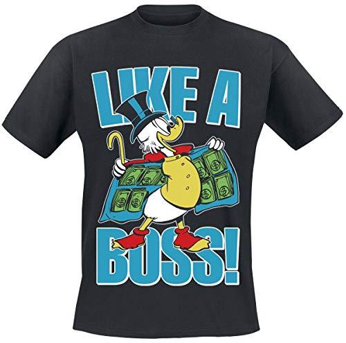 Micky Maus Scrooge McDuck Männer T-Shirt schwarz XXL