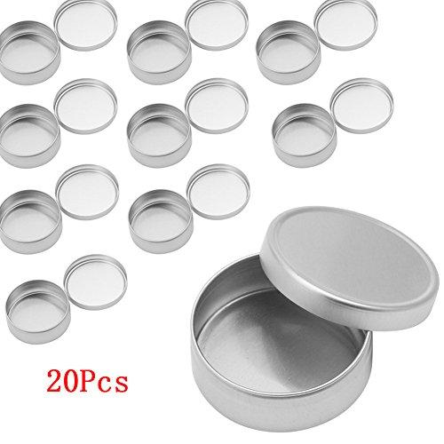 Top-Sell 20Pcs Pot Boîtier Boîte Aluminium épice Baume Pommade Maquillage Fard Lèvre Vide Baume Nail Art Pot, 30ML
