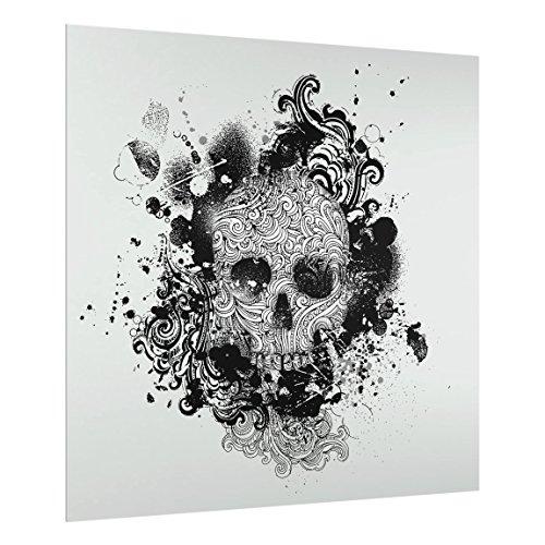 Bilderwelten Spritzschutz Glas - Skull - Quadrat 1:1 59cm x 60cm