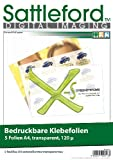 Sattleford Klebefolie zum bedrucken: 5 Klebefolien A4 transparent für Inkjet (Druckerpapier selbstklebend)