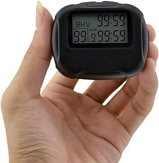 CXQWAN Digital handhållen sportstoppur, LCD digital stor display larm intervall timer träning löpning yoga tyngdlyftning l...