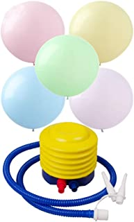 100 pcs10 inch Candy Colored Mixed-Color Balloon Latex Balloons Increase Thickening Made With Strong Latex High-Quality Balloons Comes with Foot Air Pump