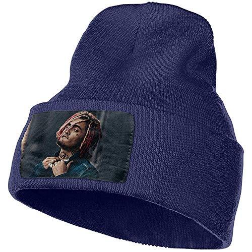 Gorro de Punto de Invierno Unisex Cap Lil Pump Esketit Fashion Gorro con puños Azul Marino