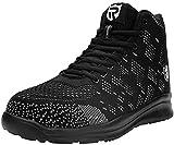 LARNMERN Zapatos de Seguridad Hombre Mujer con Punta de Acero Botas Zapatillas Ligeros Calzado de Trabajo Negro, 42 EU