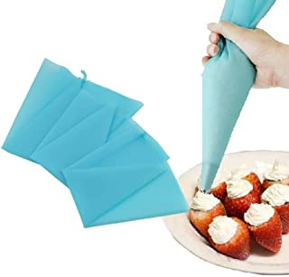Icing Piping - Szs S Code Sky Blue Silicone Reusable Cake Icing Piping Cream Bag Decorating 30cmx16cm. - Cake Image Scraper Spreader Icing Table Turntable Piping Reusable Bags Glitter Kid