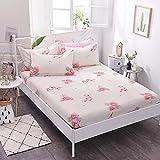 HPPSLT Protector de colchón - cubrecolchón Transpirable Sábana de Cama Individual 100% algodón Full cover-22_100 * 200cm