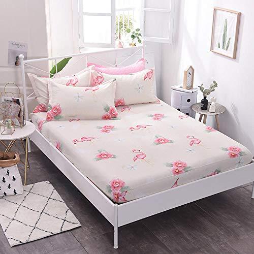 HPPSLT Protector de colchón/Cubre colchón Acolchado, Ajustable y antiácaros. Algodón Antideslizante de una Sola pieza-31_1.0 * 2m