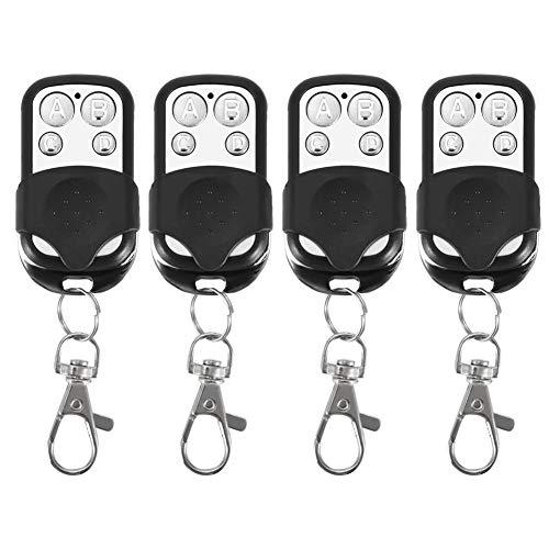 Portachiavi telecomando, 4 pezzi Universal Cloning portachiavi telecomando senza fili per auto Garage Door Gate 433mhz