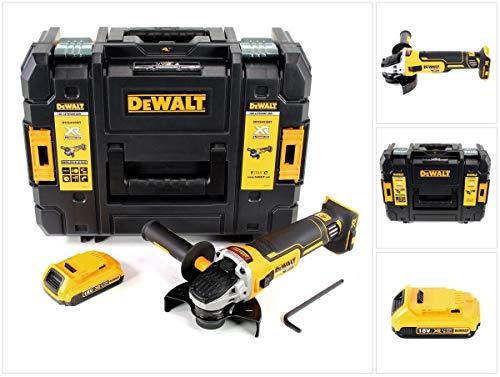 DeWalt DCG 405 18 V 125 mm Meuleuse sans fil Brushless avec boîtier TStak + 1x Batterie 2 Ah - sans Chargeur