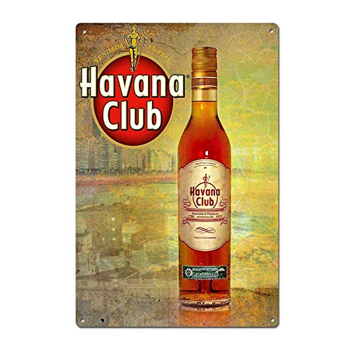 Lotusworld Vintage Havana Club Rum Blechschild, 20,3 x 30,5 cm