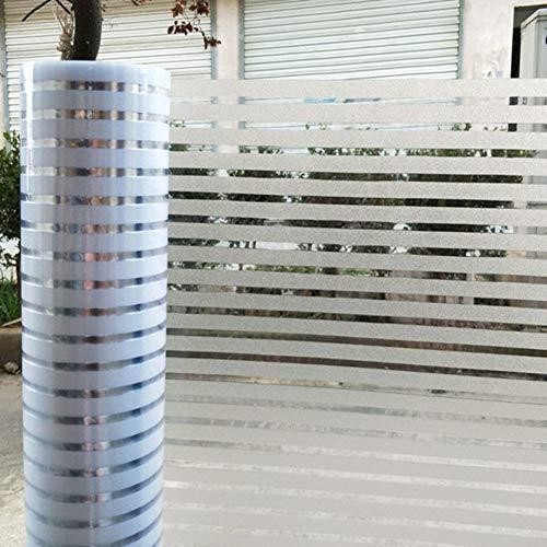 Privacy jaloezie raamfolie sticker, mat strepen, glazen deurfolie, statische window cing, voor keuken en slaapkamer 60x200cm(24x79inch) strepen
