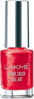 Lakme Color Crush Nailart, M4 Vermilion Red, 6 ml