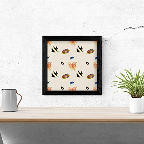 Nacnic Poster de flores y naturaleza. Lámina cuadrada Pecera de cristal, ilustrada...