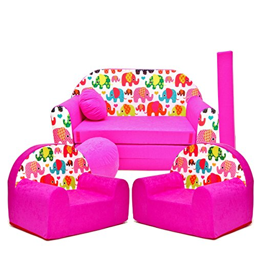 Barabike H9 kit de Lot, Mini pour Enfants, bébé Lot de 3 pour Enfants Canapé + 2 Fauteuil pour Enfant