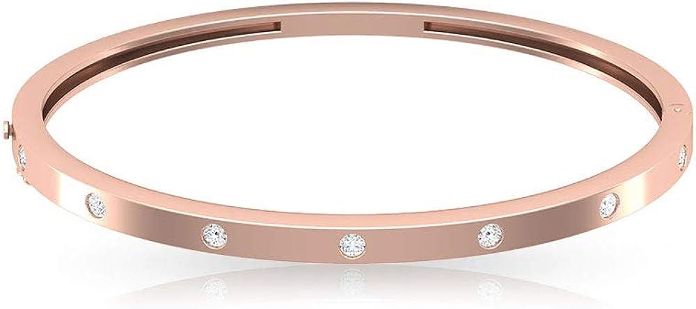 1/2 CT Bangle Bracelet for Women with Diamonds 18K