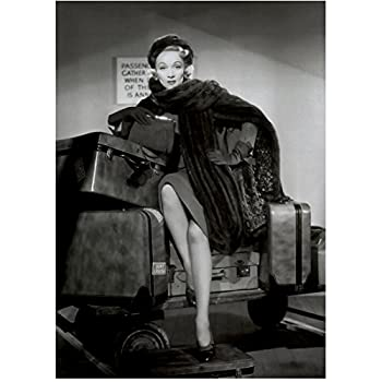 Marlene Dietrich showing off her lovely legs Black and White 8 x 10 Inch Photo