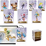 [Newest Version] Zelda Series Amiibo Cards, 25-Pcs botw Link NFC Card. Compatible Wii U Switch Games Skyward Sword HD, Breathe of The Wild. (Small Card)