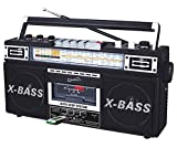SuperSonic Retro Collection Boom Box with AM/FM/ SW-1 - SW2 4-Band...