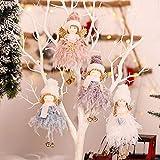 walenbily Weihnachtsengel Anhänger, 4pcs Schutzengel Geschenkanhänger,Engel Puppen,Weihnachtsbaumschmuck Geschenk für Kinder