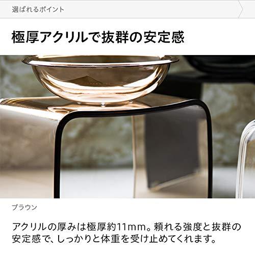 モダンデコバスチェア&ボウルセットアクリル極厚11mmコの字型シームレス滑り止め付き(ブラック)