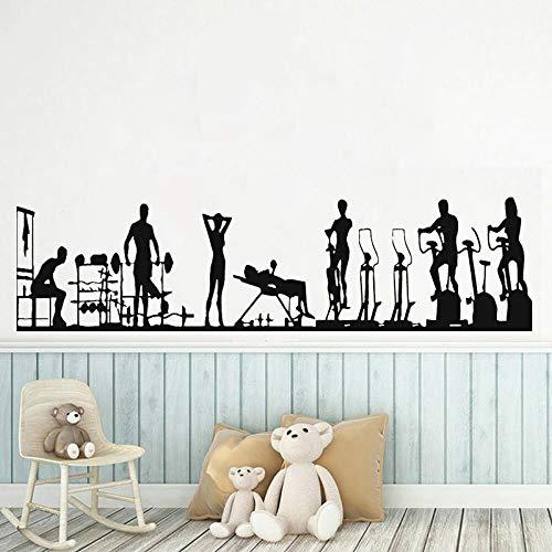 Pegatinas de vinilo para pared, entrenamiento, deportes, alimentación saludable, gente, fitness, ventana, vidrio, decoración, cocina, pegatinas de pared