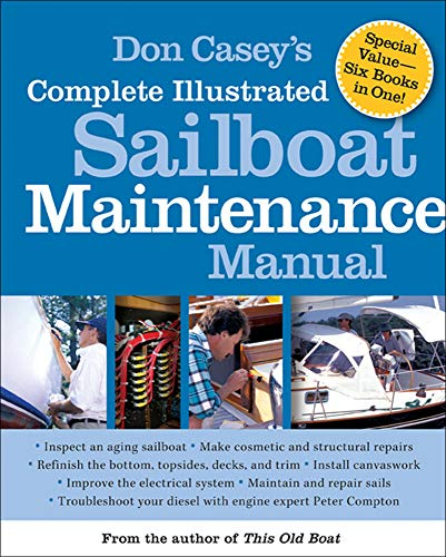 Photo of blue and white Caseys Complete Illustrated Sailboat Maintenance Book