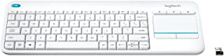 Logitech Plus Wireless Touch Keyboard K400, White