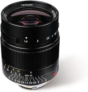 7artisans 28mm F1.4 Manual Focus Lens for Leica M Mount Cameras M-M, M240, M3,M5,M6,M7,M8,M9,M9P,M10 (Black)