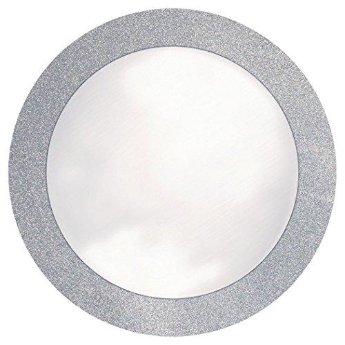 Creative Converting - Manteles individuales con borde de brillo, Hecho de papel, Pleateado, 8 unidades