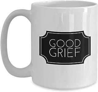 Cartoon Coffee Mug 15 Oz - Good Grief - Comic Strip Lead Role Newspaper Character Nervous Creator Fan