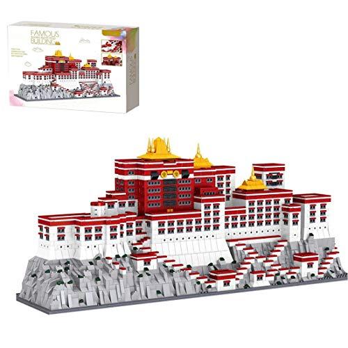 Vipo 3649 STK Bausteine Tibet Potala-Palast Architektur Modellbau DIY Bausteine Haus Klemmbaustein Stadthaus Kompatibel mit Lego Architecture