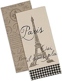 Dish Towels - Set of 2 -Paris,Eiffel Tower, Fleur de Lis, & Postmark Design