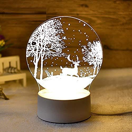 wangzj Forest Fawn Night Lights Lámpara de noche Lámpara pequeña Luces de interior 3D led Lámpara de escritorio de ahorro de energía Regalo para niños