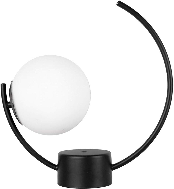 Led Modernen Minimalistischen Schmiedeeisen Tischlampe Glas Tischlampe Schlafzimmer Nachttischlampe Hotel Studie Kreative Persnlichkeit Tischlampe