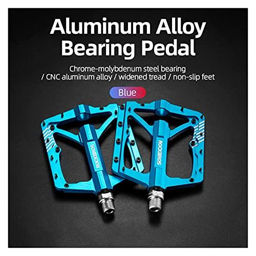 YINHAO Pedales de Bicicletas Aleación de Aluminio Aleación Antideslizante MTB Bicicleta de Carretera Rodamiento de Alta Velocidad Hueco Tallado Pedal a Prueba de Polvo Accesorios para Bicicletas