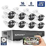 【5MP 16 Channel】 Surveillance Camera System, SMONET 5-in-1